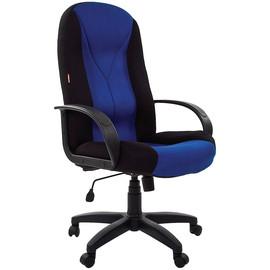 Компьютерное кресло для руководителя Chairman 785 TW-11 черный + TW-10 синий
