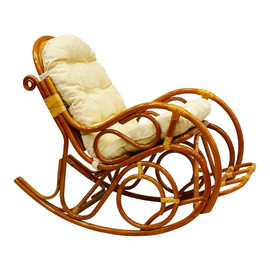 Кресло-качалка с подножкой, 05-11 К (подушка рогожка) EcoDesign