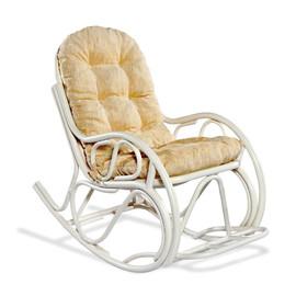 Кресло-качалка 05-17 W (белый) (подушка Ткань шенилл) EcoDesign