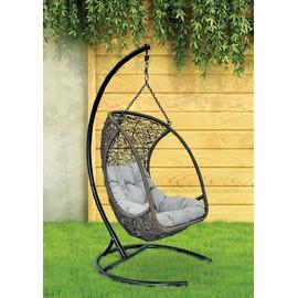 Кресло подвесное ALBATROS, цвет коричневый, подушка – Светло-серый, EcoDesign