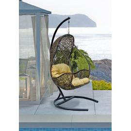 Кресло подвесное FLYHANG, цвет черный, подушка – Светло-коричневый, EcoDesign