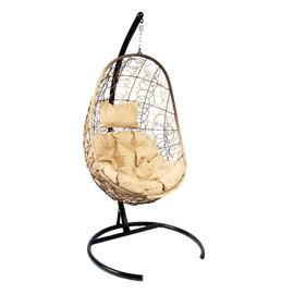 Подвесное кресло Z-02 (1), цвет светло-коричневый, подушка – бежевый EcoDesign