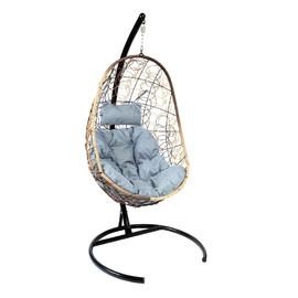 Подвесное кресло Z-02 (3), цвет светло-коричневый, подушка – серый, EcoDesign
