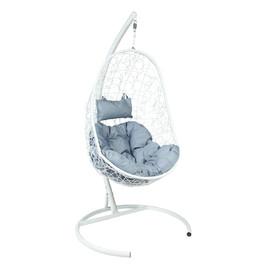 Подвесное кресло Z-02 (6), цвет белый, подушка – серый, EcoDesign