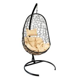Подвесное кресло Z-02 (7), цвет черный, подушка – бежевый, EcoDesign
