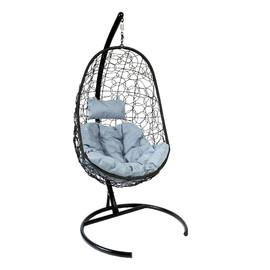 Подвесное кресло Z-02 (9), цвет черный, подушка – серый EcoDesign