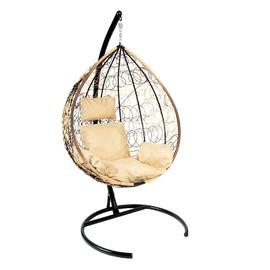 Подвесное кресло Z-03 (A1) цвет светло-коричневый, подушка – бежевый EcoDesign