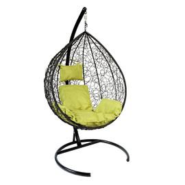 Подвесное кресло Z-03 (A8) цвет черный, подушка – зеленый EcoDesign