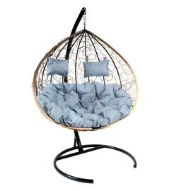 Кресло-качели подвесное Z-06 (3), цвет светло-коричневый, подушка – серый EcoDesign