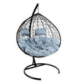 Кресло-качели подвесное Z-06 (9), цвет черный, подушка – серый EcoDesign