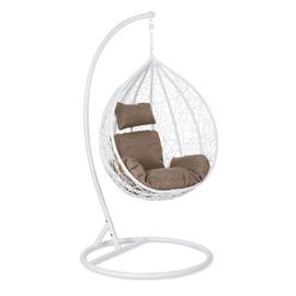 Кресло-качели подвесное Z-11 цвет white, подушка beige EcoDesign