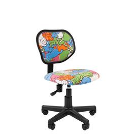 Кресло для детской комнаты Chairman  KIDS 106 чёрный пластик (Котики)
