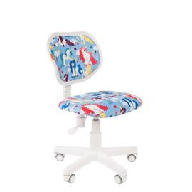 Кресло для детской комнаты Chairman  KIDS 106 белый пластик (Единорог)
