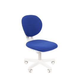 Компьютерное кресло для детской комнаты Chairman KIDS 108 белый пластик (Синий)