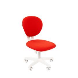Кресло для детской комнаты Chairman  KIDS 108 белый пластик (Красный)