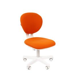 Кресло для детской комнаты Chairman  KIDS 108 белый пластик (Оранжевый)