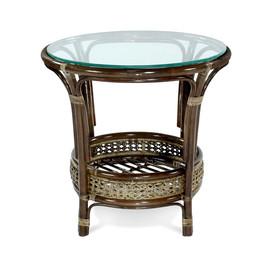 Стол кофейный ПЕЛАНГИ, 02-15А Б темно-коричневый Ecodesign