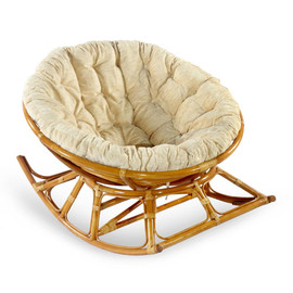 Кресло-качалка PAPASAN 23-03 К (подушка рогожка) EcoDesign