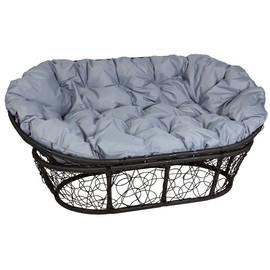 Кресло Mamasan, (Patio-23-02 met 9) цвет плетения черный, цвет подушки серый EcoDesign