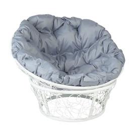 Кресло Papasan, (Patio-23-01 met 6) цвет плетения белый, цвет подушки серый EcoDesign