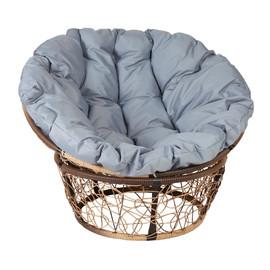 Кресло Papasan, (Patio-23-01 met 12) цвет плетения светло-коричневый, цвет подушки серый EcoDesign