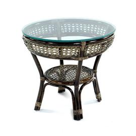 Стол кофейный из ротанга JAVA, 27-22Б Браун (темно-коричневый) Ecodesign