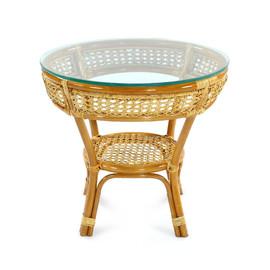 Стол кофейный из ротанга JAVA, 27-22А К Коньячный Ecodesign