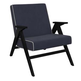 Кресло  Вест  (Венге, ткань Verona Denim Blue, кант Verona Light Grey ) Red Black
