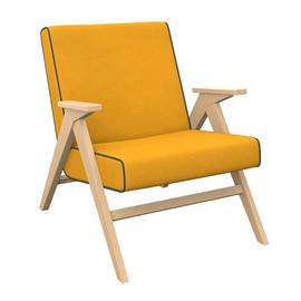 Кресло  Вест (Натуральное дерево/ткань Fancy 48/ кант Fancy 37 ) Red Black