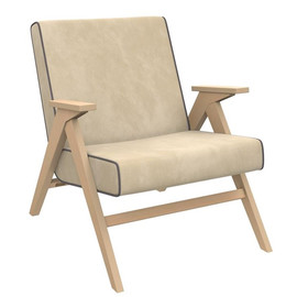 Кресло  Вест  (Натуральное дерево/ткань Verona Vanilla/кант Verona Antrazite Grey) Red Black