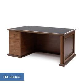 ISEO Стол письменный L160 экокожа ВИШНЯ АНТИЧ/ЧЕРН (136S034 Iseo_print)