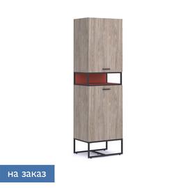 CALIPSO Шкаф с открытой полкой ОРЕХ БАРСЕЛОН/КИРПИЧНЫЙ (138H003 LB/1G (9005))