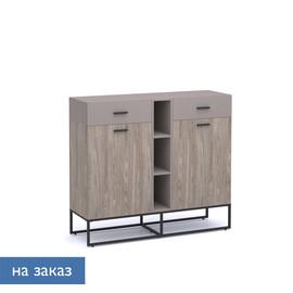 CALIPSO Шкаф низкий ОРЕХ БАРСЕЛОН/БАЗАЛЬТ (138H006 LB/Е8 (9005))