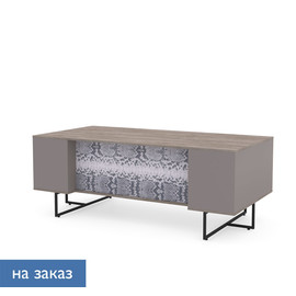 CALIPSO Стол письменный L200 ОРЕХ БАРСЕЛОН/ПИТОН (138S002 Питон (9005))
