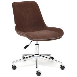 Кресло STYLE флок , коричневый, 6 TetChair