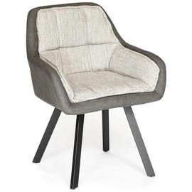 Кресло VISTA ( mod. DС5067 L) металл/ткань/PU  бежевый/черный TetChair