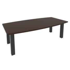 Стол переговорный в офис (цена указана с опорами) KPRG-1 2400x1200x750 Венге/Антрацит