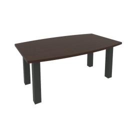 Стол переговорный в офис (цена указана с опорами) KPRG-2 1800x1100x750 Венге/Антрацит