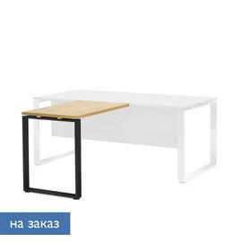 EXE Приставка к столу L 100x60 ДУБ ФЛОРЕ/ЧЕРН (101 401 FLO 09)