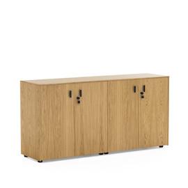 EXE Шкаф низкий 4 двери H.82 ДУБ ФЛОРЕ/ЧЕРН (101 721 FLO 09)