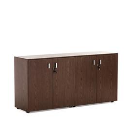 EXE Шкаф низкий 4 двери H.82 ОРЕХ МАРОНЕ/ХРОМ (101 721 MAR)