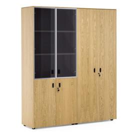 EXE Шкаф для документов и комбинированный H.197 ДУБ ФЛОРЕ/ЧЕРН (101 726 FLO 09)