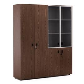EXE Шкаф для документов и комбинированный H.197 ОРЕХ МАРОНЕ/ЧЕРН(101 726 MAR 09)