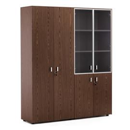 EXE Шкаф для документов и комбинированный H.197 ОРЕХ МАРОНЕ/ХРОМ (101 726 MAR)