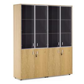 EXE Шкаф комбинированный двойной H.197 ДУБ ФЛОРЕ/ХРОМ (101 728 FLO)