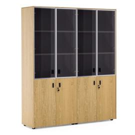 EXE Шкаф комбинированный двойной H.197 ДУБ ФЛОРЕ/ЧЕРН(101 728 FLO 09)