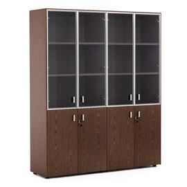 EXE Шкаф комбинированный двойной H.197 ОРЕХ МАРОНЕ/ХРОМ (101 728 MAR)