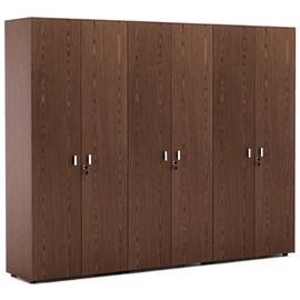 EXE Шкаф для бумаг + 2 гардероба H.197 ОРЕХ МАРОНЕ/ХРОМ (101 732 MAR)