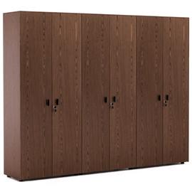 EXE Шкаф для бумаг + 2 гардероба H.197 ОРЕХ МАРОНЕ/ЧЕРН (101 732 MAR 09)