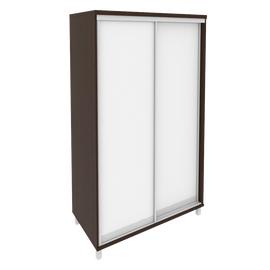 Шкаф-купе для документов в офис с зеркальными дверьми KSK-5 1200*600*2060 Венге
